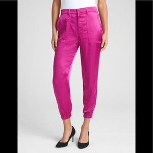 GAP NWT Pink Silky Utility Joggers